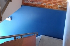 A condo building stairwell painted by Precision Painting in Ottawa