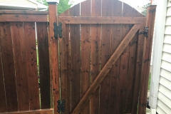 Fence gate restained